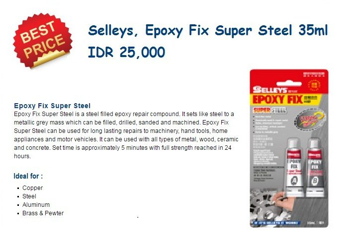 Selleys Epoxy Fix Spr Steel 0316
