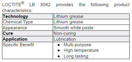 White Lithium Grease LB 8042 by Henkel Loctite