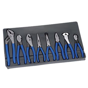 Pliers Set, Dipped Grips, 8pcs (BDGPL800) Bluepoint