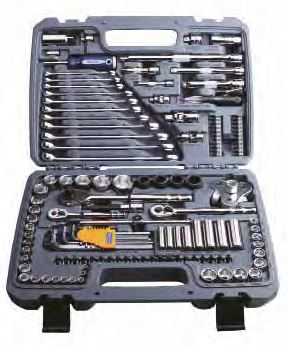 "1/4"", 3/8"" & 1/2"" Drive Automotive Tool Set, 120pcs - (BLPATSCM120) Bluepoint"