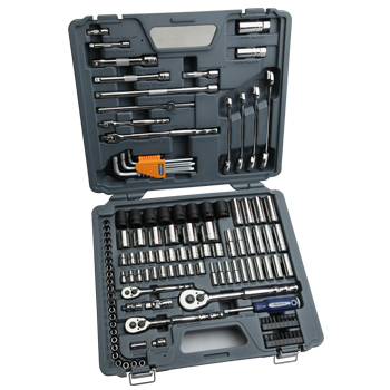 "1/4"", 3/8"" & 1/2"" Drive Socket & Tool Set, 128pcs (BLPATSCM128) Bluepoint"